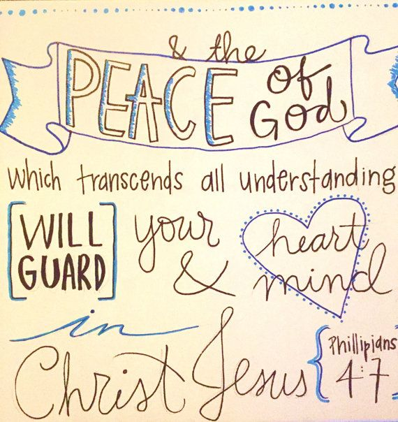 Philipians 4:7b Canvas Quotes by QuteseeCanvas on Etsy