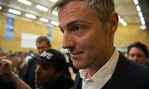 Zac Goldsmith at Richmond Park after the byelection count