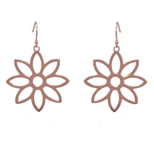 Namaqua Daisy Flower Earrings • Rose Gold