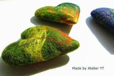 Felted hearts. Atelier YT, textile mementoes
