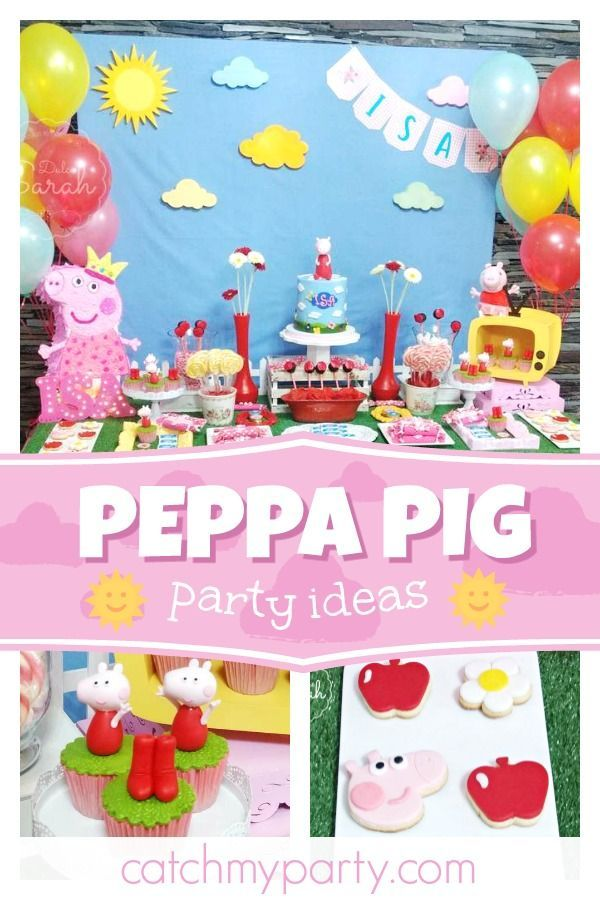 Check Out This Fun Peppa Pig Birthday Party The Sugar Coated Cookies Are So Cute See More Ideas And Share Yours At CatchMyParty Catchmyparty