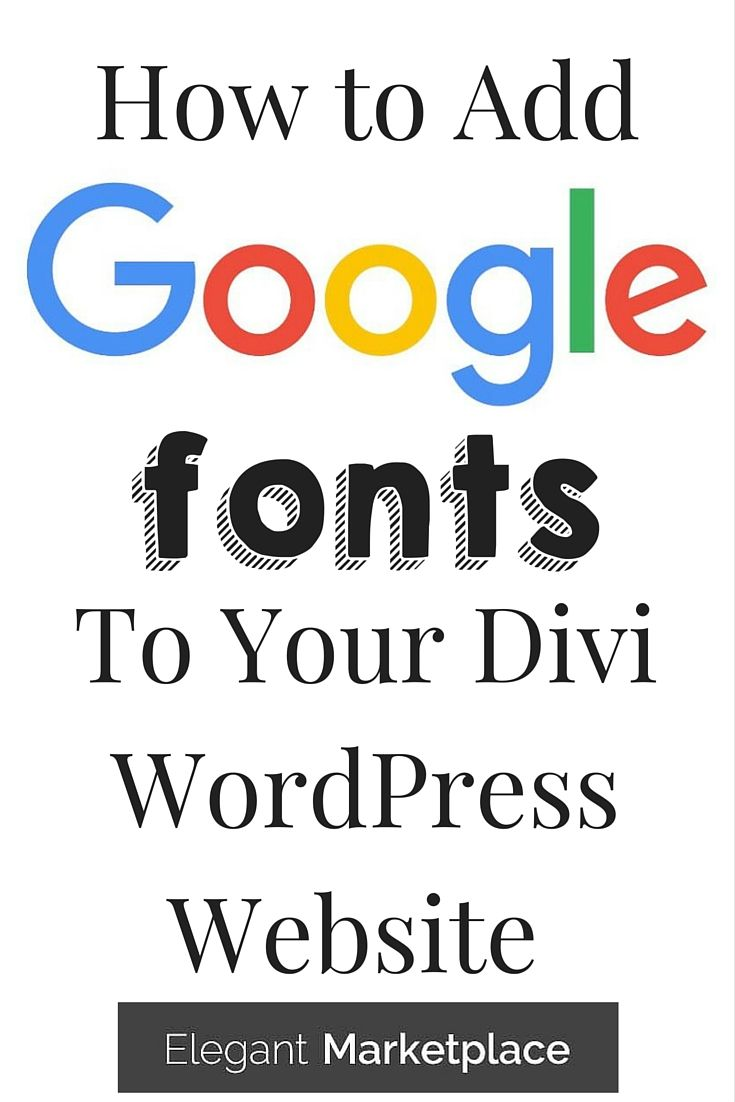 How to add google fonts into your divi themed wordpress - Divi font awesome ...