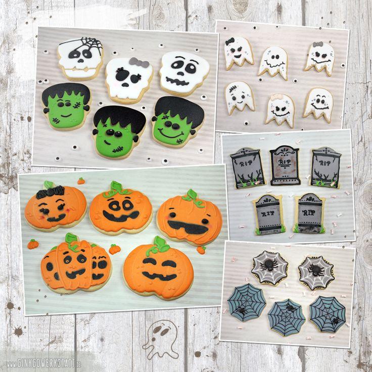 #cookies #kekse #royalicing #eiweißspritzglasur #halloween #ghost #geist #geister #frankenstein #monster #skulls #schädel #gravestone #tombstone #grabstein #pumpkin #kürbis #spider #spinne #spiderweb #spinnennetz #spooky #cute #niedlich