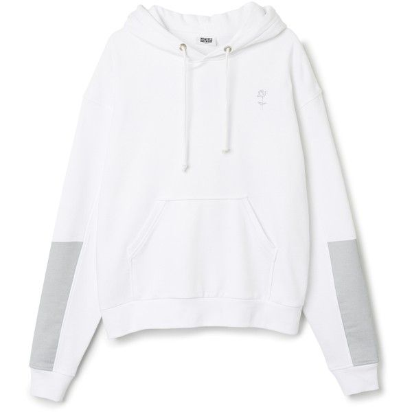 Reflective Hoodie ❤ liked on Polyvore featuring tops, hoodies, oversized hooded sweatshirt, white hooded sweatshirt, print hoodie, sleeve hoodie and pattern hoodie