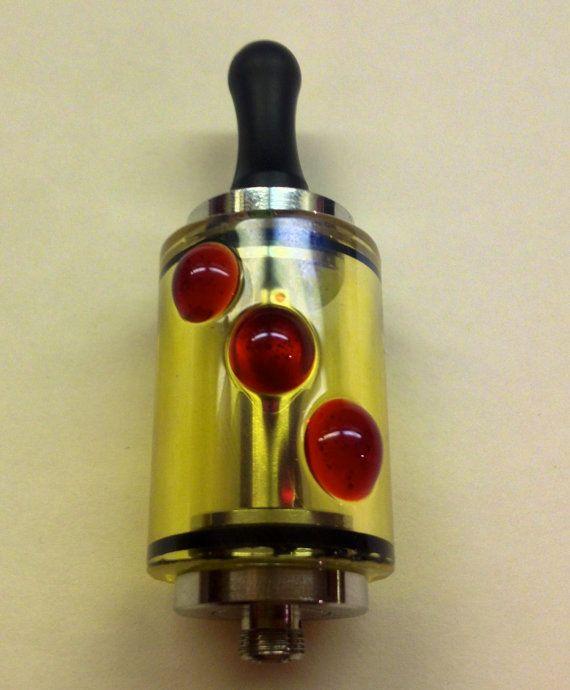 Handmade Glass Ecig Tanks  (red elvis)