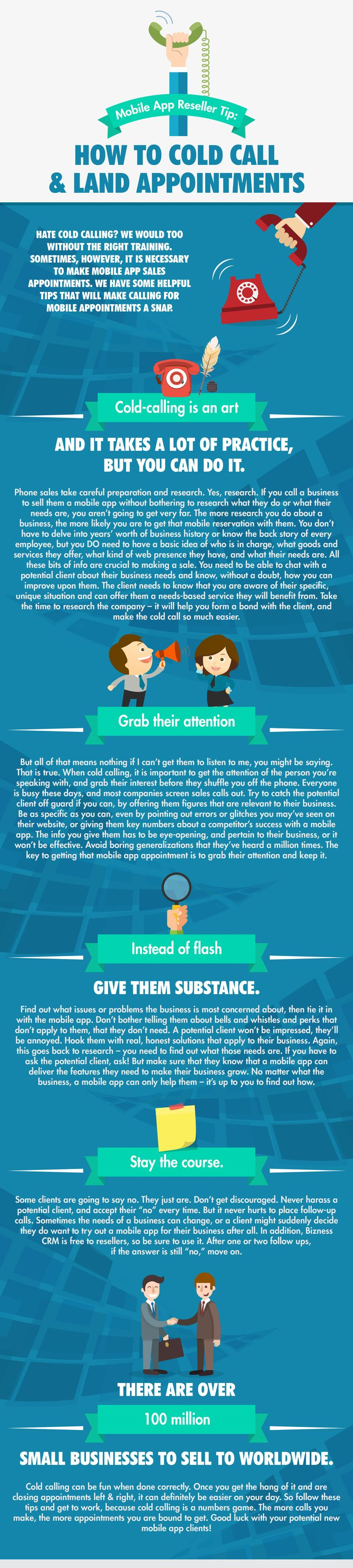 17 best ideas about cold calling s tips s how to cold call and land appointments infographic blog bizness apps