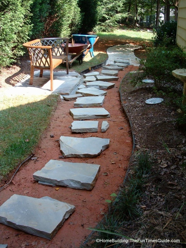 diy stepping stone walkway ideas tips to build stone walkways