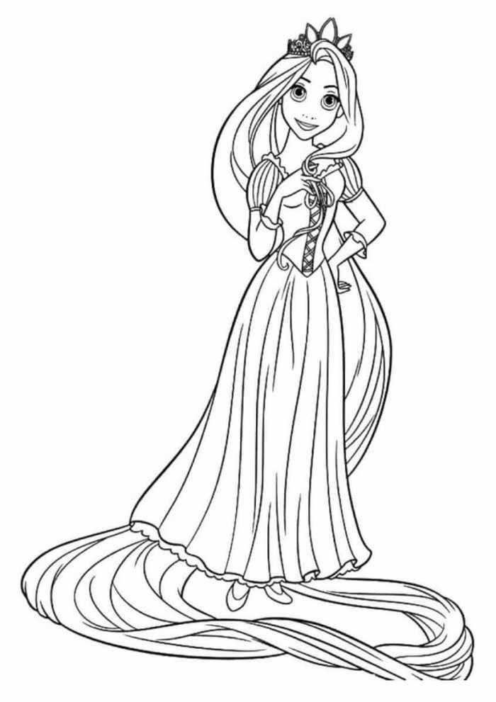 Printable Princess Coloring Pages Rapunzel Coloring Pages