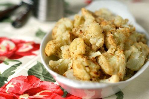 Roasted Tahini Cauliflower- cauliflower is really healthy... it blocks ...