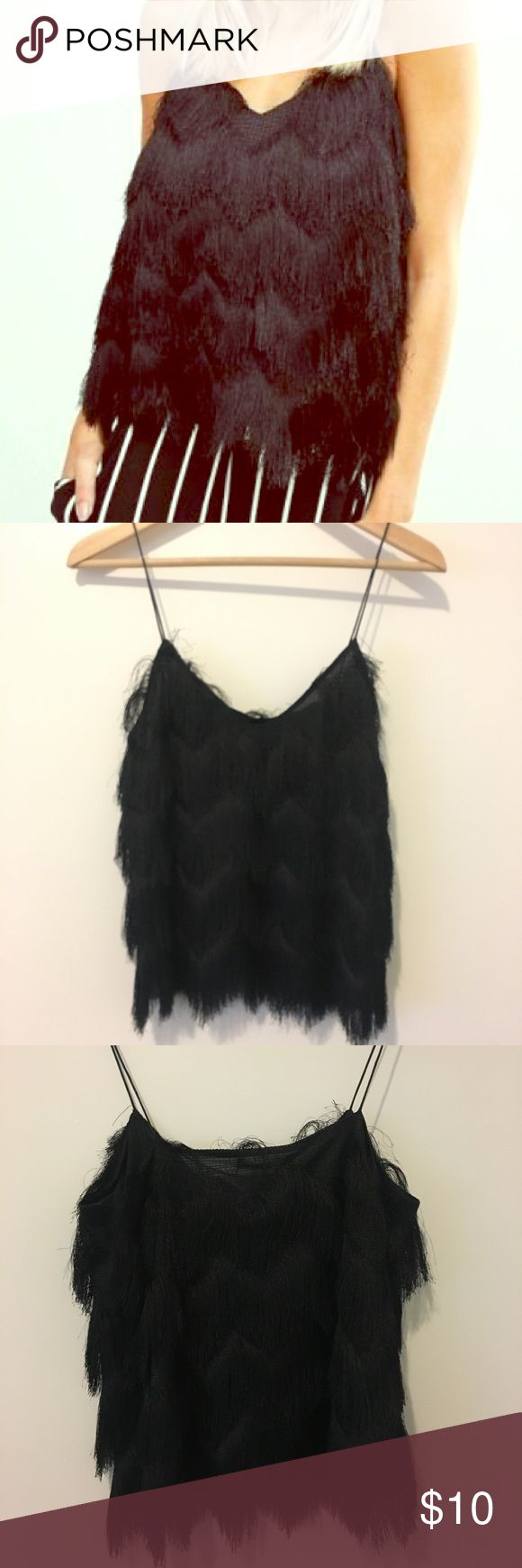 Bershka fringe cami size S Never been worn brand new tags still attached Bershka Tops Camisoles