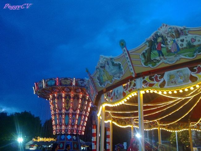 Xmas carousel and a blue-blue sky!