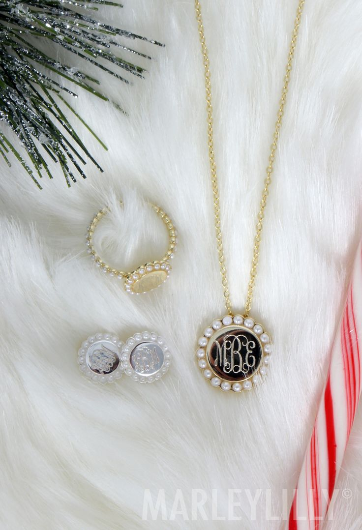 'Tis the season for PEARLS! Shop the Monogrammed Pearl Collection from Marleylilly now!