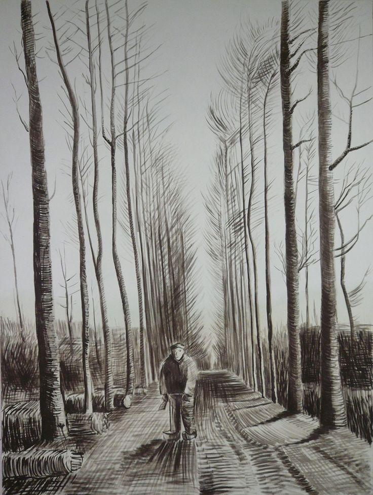 Jaroslaw Modzelewski, obraz według rysunku Van Gogha, 200X150, 2013