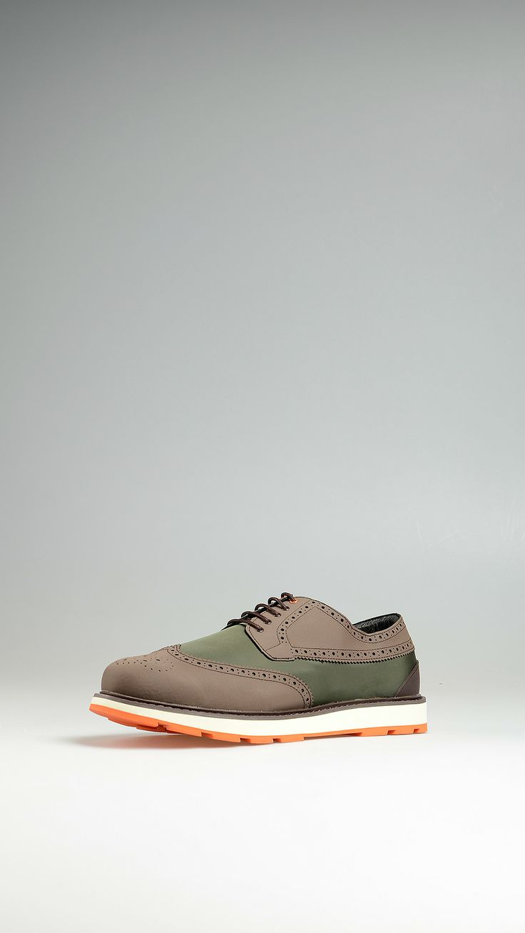 Swims Water resistant fabric full brogue shoes
