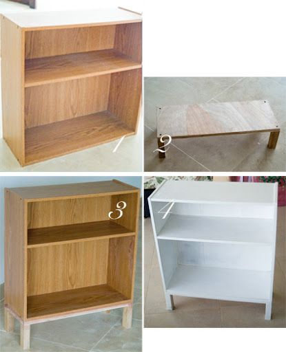 Refurbishing a cheap bookcase - add feet