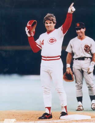 Pete Rose the night he broke Ty Cobb's all-time hit record...hit #4192