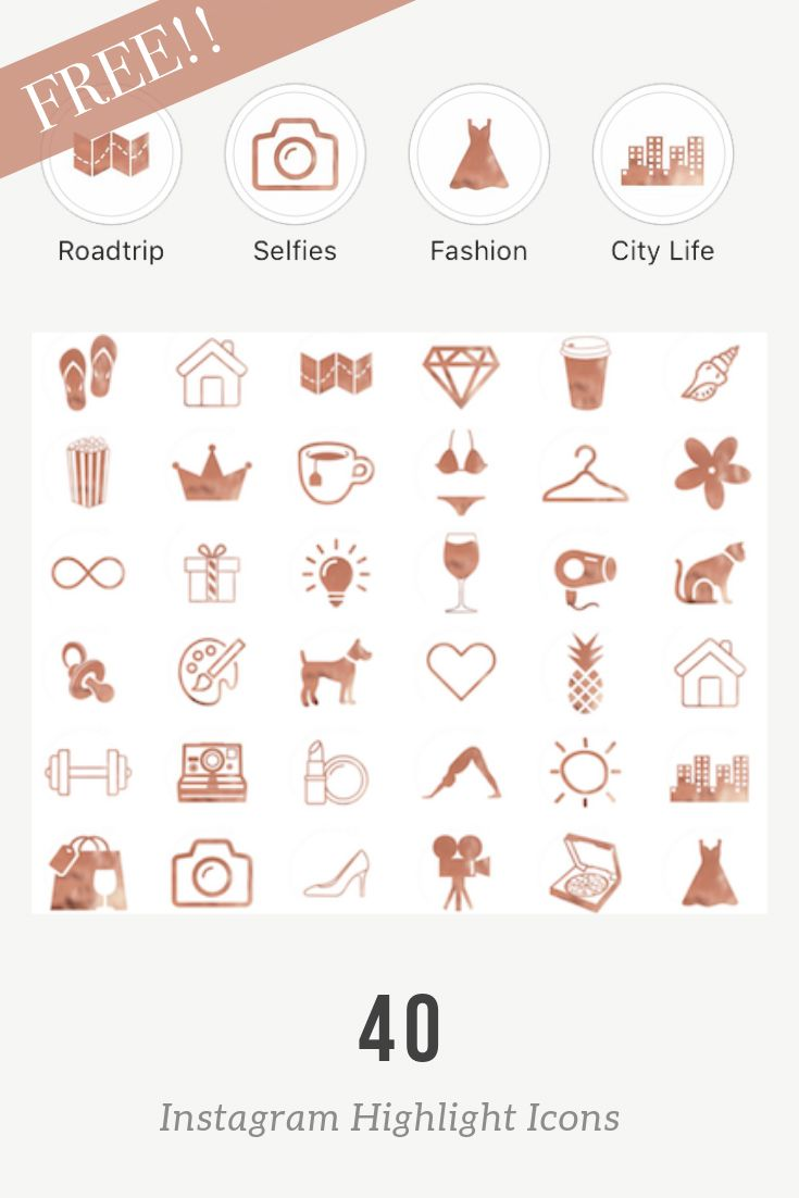 Free Instagram Highlight Covers In Rose Gold Rose Gold Highlights Free Instagram Instagram Highlight Icons