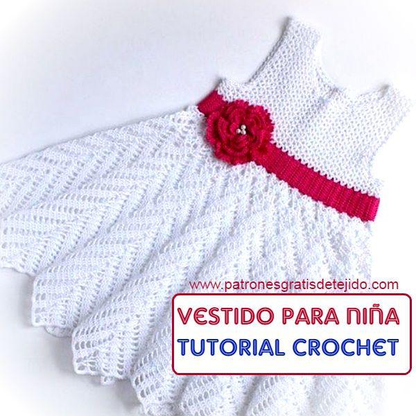 Vestido con falda chevron para nena tutorial