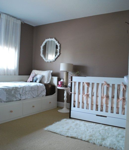 Hemnes daybed in nursery- pulls out into double bed. Great for guests