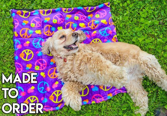Made To Order Handmade Dog Cooling Mat Choose A Print Dog Cooling Mat Dogs Your Pet