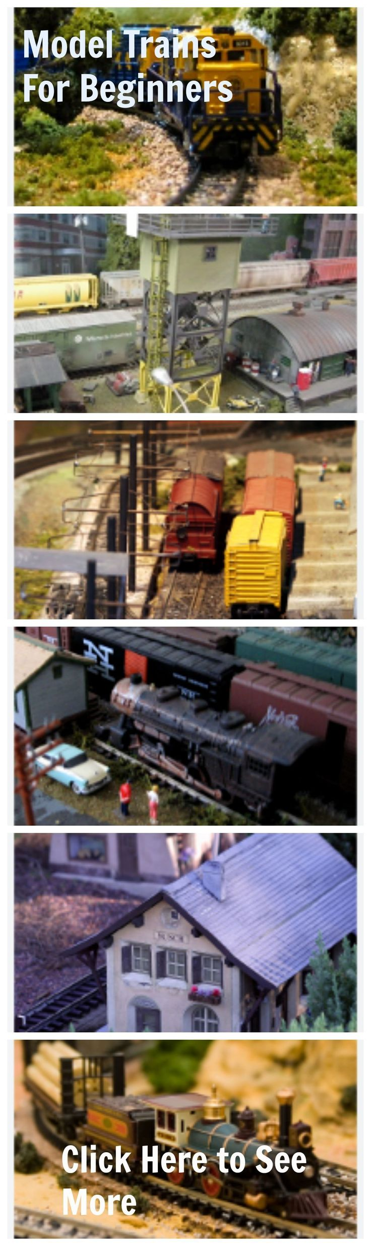 """""""Model Trains for Beginners"""" Contains The Vital Secrets You Must Have To Create The Model Train layout of Your Dreams! http://fbshare.info/model-trains-for-beginners #electrictrainsets"""