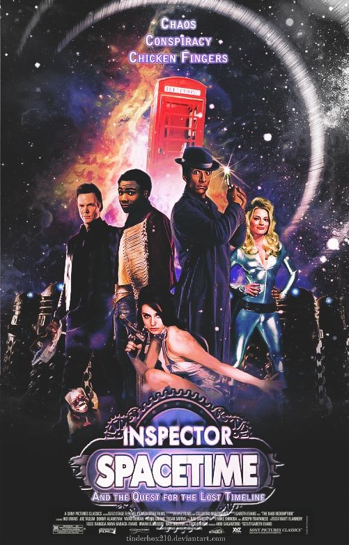 Inspector Spacetime: Time Travel, Picture-Black Posters, Doctors Who, Movie, Chicken Fingers, Fans Art, Dr. Who, Inspectorspacetim, Inspector Spacetim
