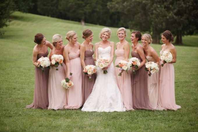 Dusty shades of pink on topping the trends charts and we simply adore it for your favorite ladies! #cedarwoodweddings Effortlessly+Chic+Cedarwood+Wedding+::+Jennifer+Joel+|+Cedarwood+Weddings