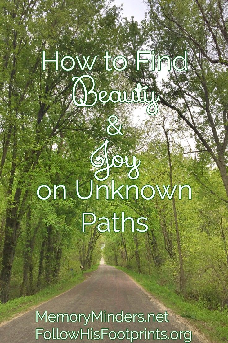 Find joy, beauty & peace even on unknown paths with Jesus