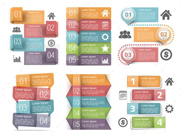 Infographics Design Templates (Vector EPS, CS, banner, brochure, bubble, business, chart, creative, elements, flow, flowchart, icon, infographic, information, label, layout, manual, number, option, origami, path, presentation, progress, speech, step, tab, tag, template, text, three, tutorial, two)