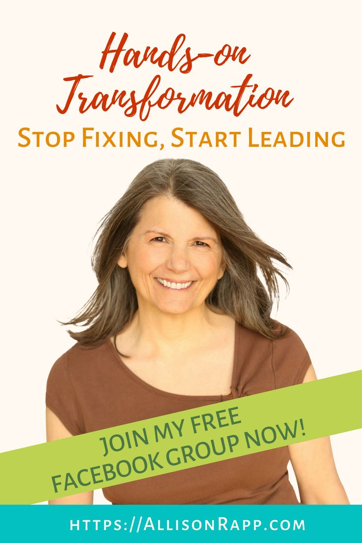 If you know your work is about transformation, and you're tired of fixing people, we'd love to have you in our Facebook group! You'll find hundreds of colleagues who are becoming transformational leaders, and we can't wait to connect with you! find us at https://www.facebook.com/groups/handsonxfm/   You can find resources to build your practice at https://allisonrapp.com