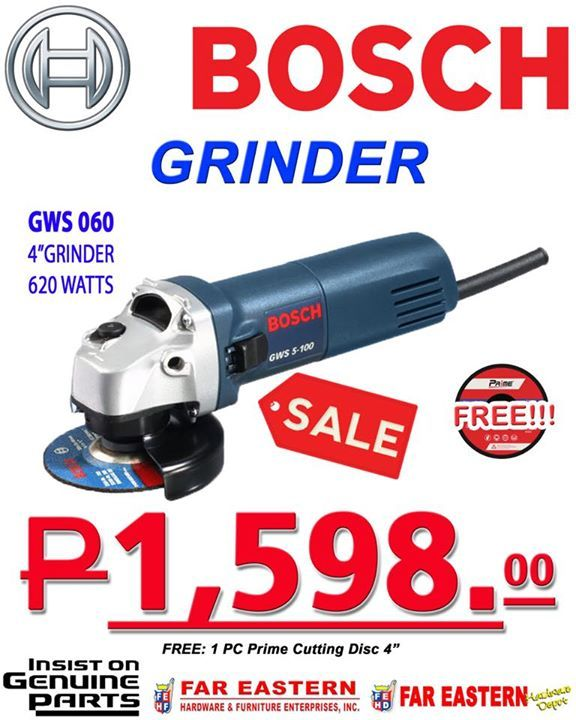 Hop on to Far Eastern Hardware and grab selected Bosch tools on sale! Like and follow their page to know more 👍🏻