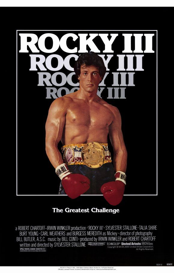 Out of all the Rocky movies, Rocky III was the one that I watched the most as a kid. Rocky fighting Hulk Hogan and Mr. T? Pure awesomeness.