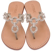 Love how the glittery rhinestones won't overpower a small foot since skin will show in the circular openings. Moonlight Magic Rhinestone Sandals. Mystique