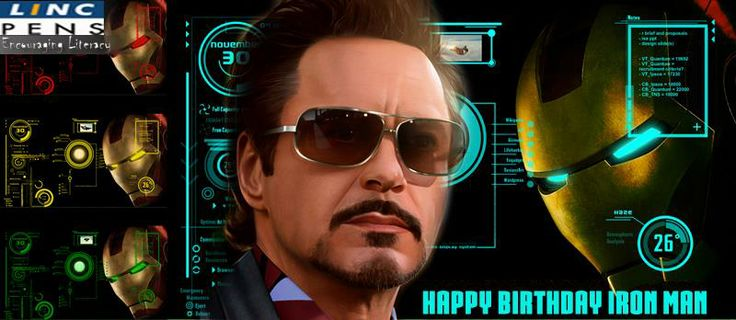 Linc Pen Wishes a Very happy Birthday to the super cool Robert Downey jr. Thank You for entertaining us.