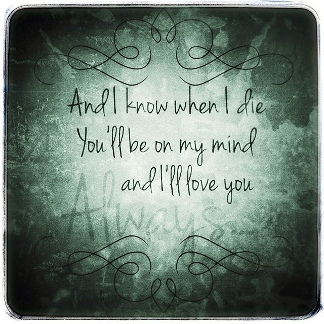 Bon Jovi - Always. Lyrics.