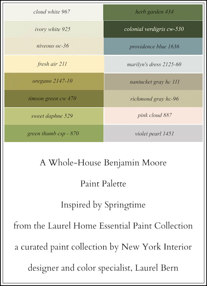 A 16 color spring inspired whole house paint palette - Whole house interior paint palette ...