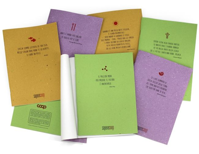 Arbos straw paper Cartapaglia notebooks for Coop #arbos #strawpaper #cartapaglia #coop