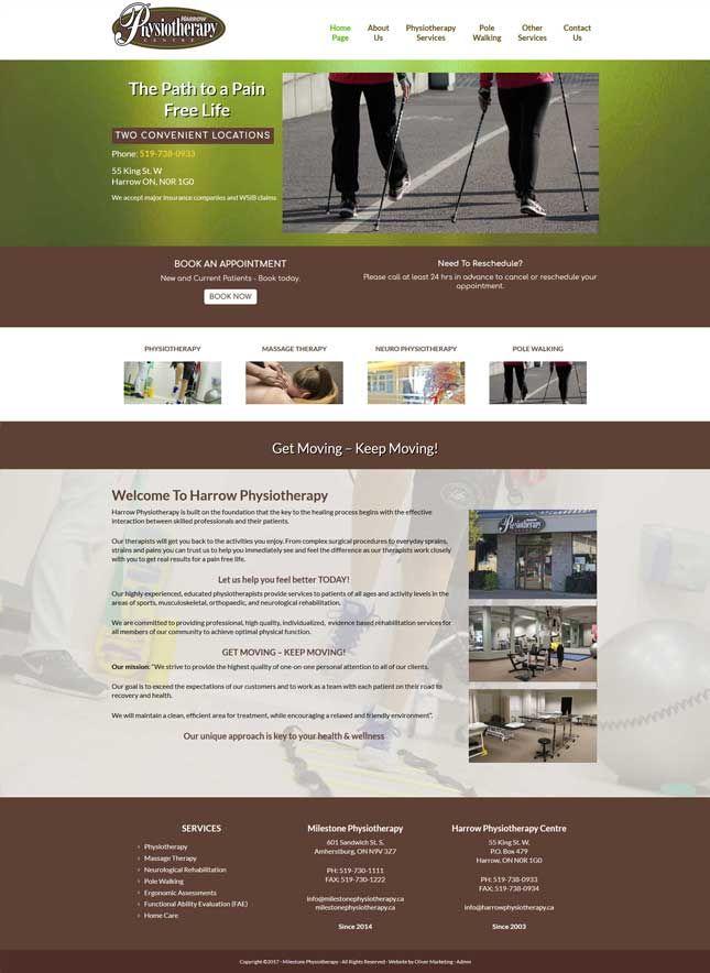 Harrow Physiotherapy of Harrow, Ontario. Sister company to Milestone Physiotherapy.