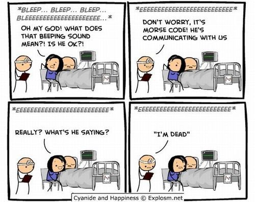 LOL: Funny Things, Giggle, Morse Code, Random, Funny Stuff, Funnies, Humor, Cyanide Happiness