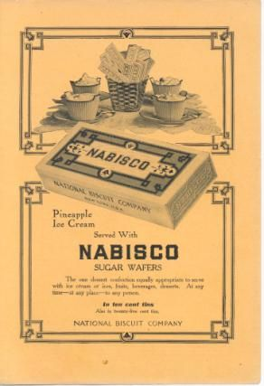 Vintage nabisco Cookies | Old Nabisco Sugar Wafers Cookies Ad at ClassicAdShop.com