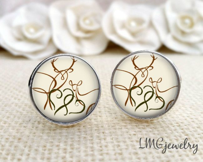 Groom Cufflinks Buck And Doe Wedding Custom Gift For