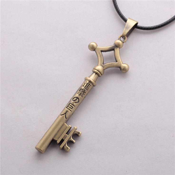 Attack On Titan Shingeki No Kyojin Eren's Key Pendant Necklace