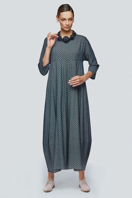 Lesel - Платье ромб длинное ромбики