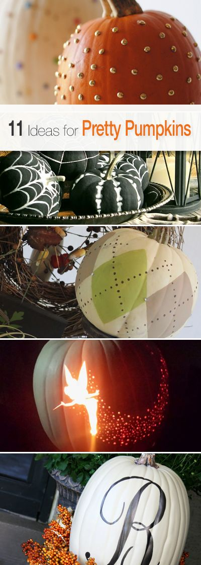 11 ideas for pretty pumpkins lots of great tutorials and ideas - Pretty Halloween Decorations