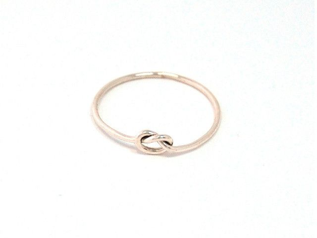 Sterling silver Love Me Knot ring