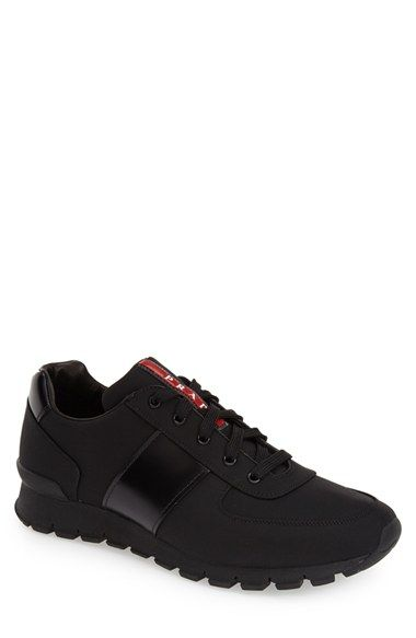 Prada+Leather+Sneaker+(Men)+available+at+#Nordstrom