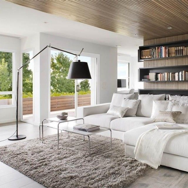 Cantilevered And Infinitely Adjustable Floor Lamp In Polished Aluminium Or  Black Stem With The Shade Available In Three Sizes. Polished Aluminium  Available ...