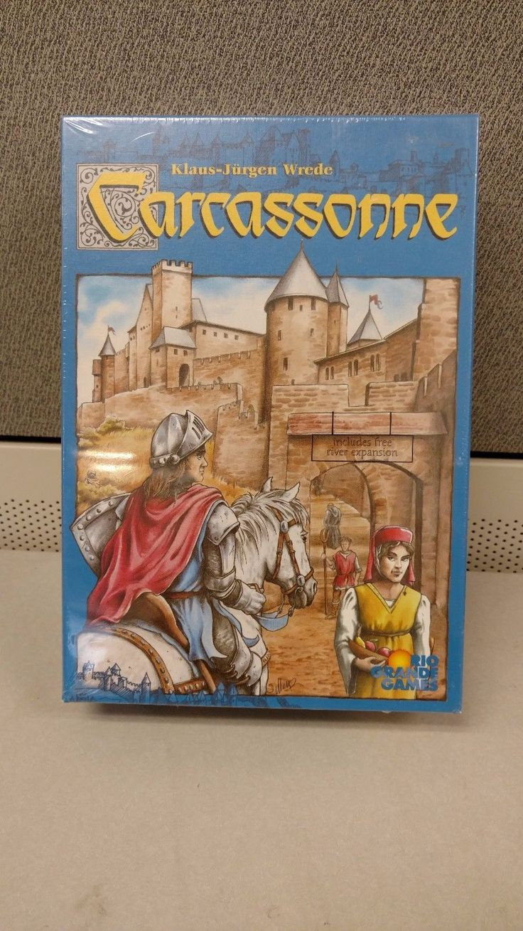 New Sealed Carcassonne Board Game with River Expansion Rio Grande Games 2000