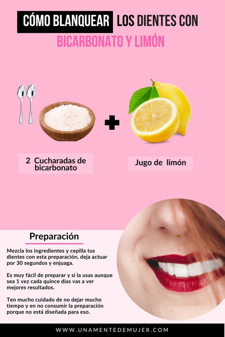 Cómo blanquear los dientes con bicarbonato y limón