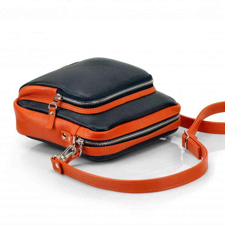 Компактная сумка унисекс через плечо | 100% кожа, ручная работа | Leonid Titow